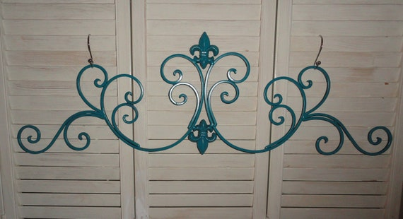 Fleur de lis Iron work wall decor scrolls Shabby and Chic