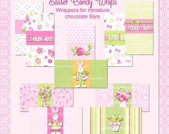 E16-Easter Candy Wraps for Minis-Downloadable