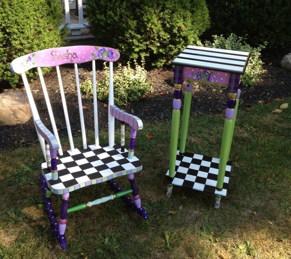 Dot Painted Furniture Etsy