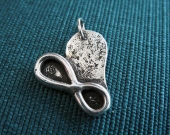 Sterling Silver Cherish Love Charm or Pendant