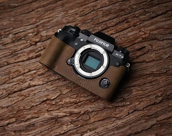 MS Edition Fujifilm fuji XT2 X-T2 Handmade Half Case Cowhide leather insert Camera bag Protector Holster sleeve limited stock Made TO Order