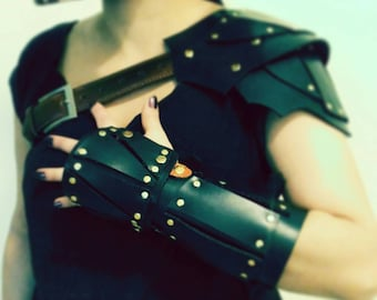 Steampunk Fantasy Medieval Viking armor arm Cosplay shoulder outfit