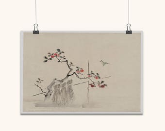 JAPANESE ART Japanese Wall Art Japanese Prints Japanese Wall Art Vintage Old Style Japanese Blue Bird Home Decor Japanese Antique Wall