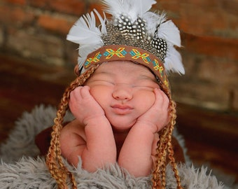 photo prop, infant, newborn, baby, native, american, embroider, headband, skirt, clothing, headdress, native american, baby photo prop