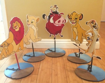 Lion King inspired Centerpiece, Simba, Pumba, Timon Centerpeice