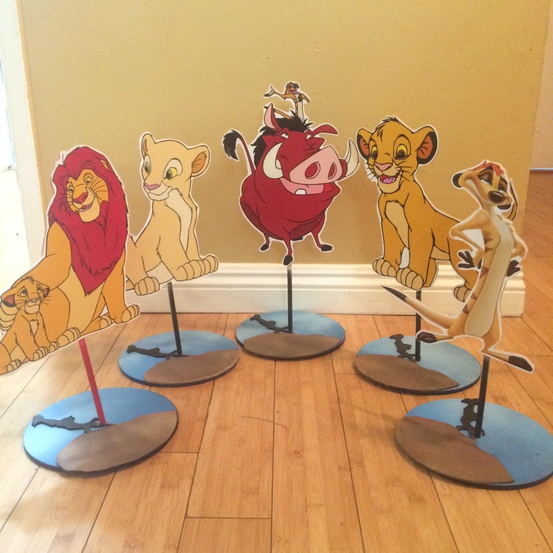 Lion King inspired Centerpiece Simba Pumba Timon