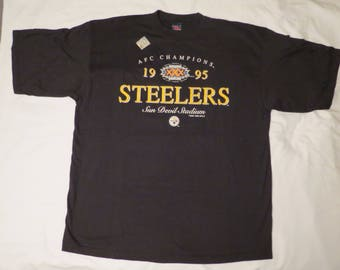 Pittsburgh Steelers Football 90s T-Shirt AFC Champions