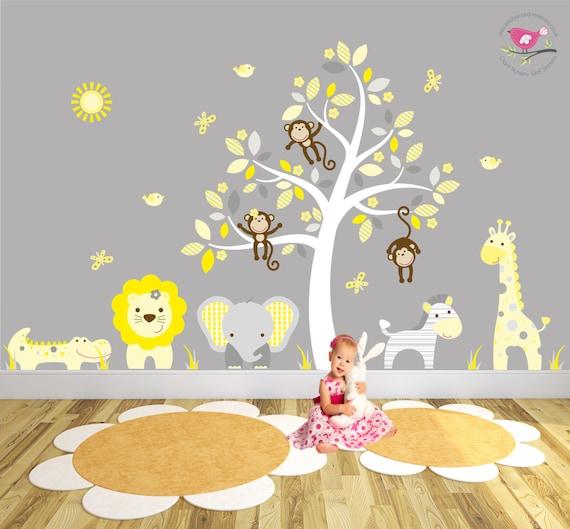 Stunning stickers chambre bebe jaune et gris photos - Decoration chambre bebe jaune et gris ...