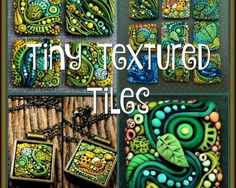 Tiny Textured Tiles,  A Polymer Clay PDF Tutorial, Inchie Tiles