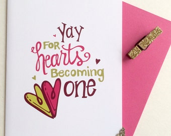 Hearts Becoming One Greeting Card