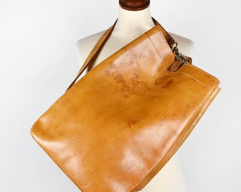 Beautifully Rustic Leather Single Strap Backpack || Leather Purse