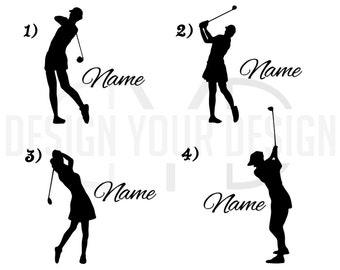 Custom Golf Decal - With Name Ladies