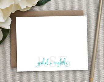 Personalized Stationery. Personalized Notecard Set. Personalized Stationary. Monogram / Monogrammed Stationery/Note Cards. Stacked Monogram.