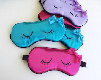 Slumber Party Sleep Masks Eyelashes Kids Sleep Mask Slumber Slumber Party Favors.