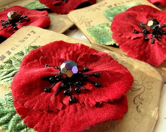 Remembrance Poppy Corsage