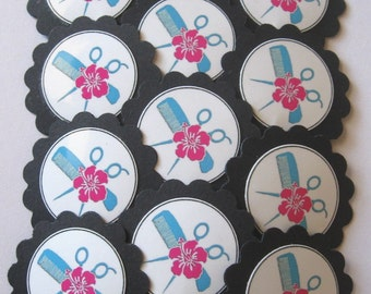 Hair Stylist/Hairdresser Cupcake Toppers/Party Picks Item #1173