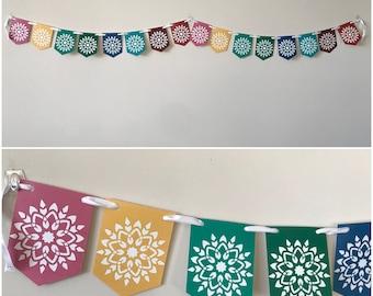 Multicolor Background Nine-Pointed Star - Joyous Naw-Rúz Banner - Instant Download - - Bahai Banner AyyamiHa Banner NawRuz Banner