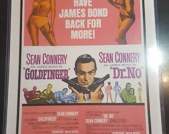 James bond vintage style movie poster. Goldfinger