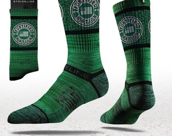 Fortified Nation Strideline Crew Socks - Green