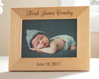 Personalized New Baby Picture Frame: Personalized Baby Gift, Personalized Baby Gift, Gift for New Parents, Gift for New Grandparents