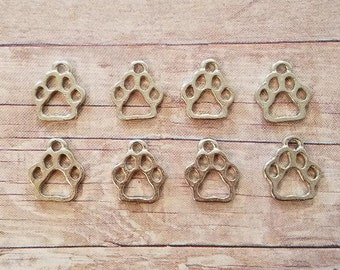 8 Pieces- Paw Charms