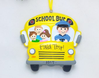 School Bus Driver Personalized Christmas Ornament / Child Christmas Ornament / School Ornament / Back to School Ornament