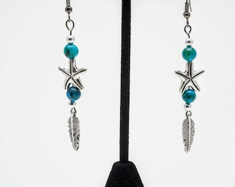 Starfish-feather Earrings
