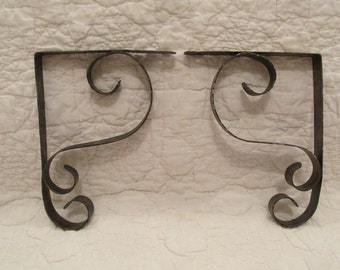 Vintage Brackets Set metal black/gold paint