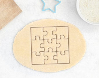 Puzzle Cookie Cutter – Jigsaw Cookie Cutter Puzzle Piece Cookies Square Cookie Cutter Jigsaw Puzzle Cookies Board Game Gift Jigsaw Gift