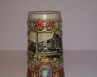 COORS BEER STEIN 1988 Edition # 132075 Brewing Site 1873 Brazil