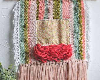 spring collection // three // woven wall hanging