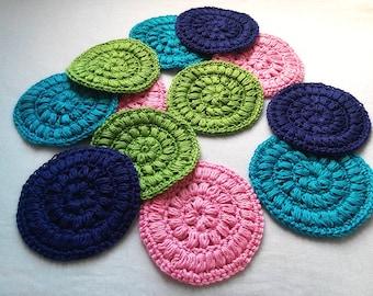 Jumbo Crocheted Face Scrubbies / Coasters