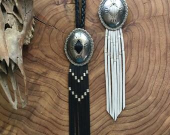 Concho Fringe Necklace