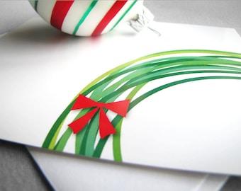 Wreath Christmas Card. Printable Christmas Card. Holiday Card. Religious Christmas Card. Christian Christmas Card. Digital Instant Download.