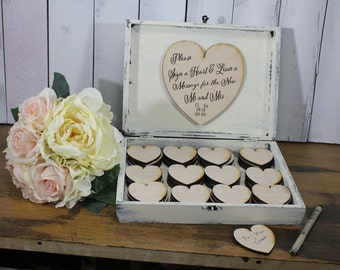 Guest Book/Alternative/Heart/Guestbook Box/Guestbook/Reception/Wedding Guestbook