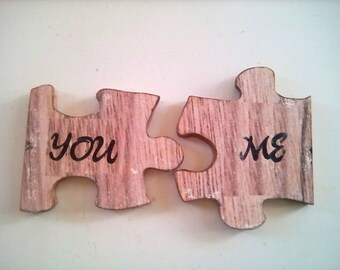 Personalized Wedding Gift, Wedding Gift, Wedding Decoration, Anniversary Gift, Happy Anniversary, Gift, Jigsaw Puzzle Piece, Love Sign