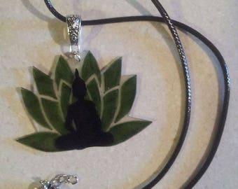 Adjustable lotus and Buddha necklace