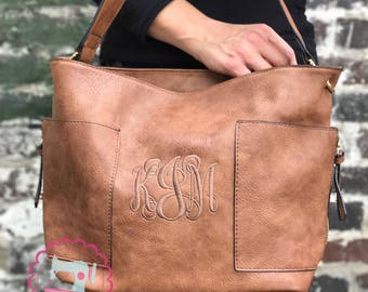 Monogrammed hobo purse, personalized purse, great bag for fall, monogrammed handbag