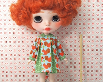 Nanette Noisettes Squirrel Dress for your Blythe girls - ready to ship