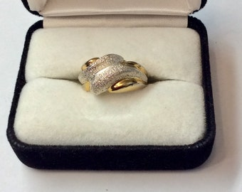 Silver Ring with Gold Wash