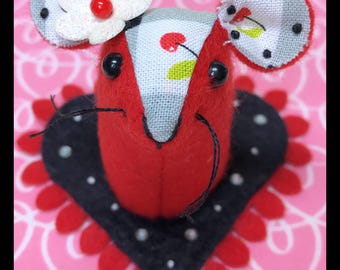 Heart Shaped Mouse Pincushion