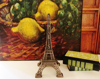 Vintage French Effiel Tower, Paris Apartment, French Chic Decor, Effiel Tower Figurine, Made in France