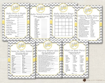 Twin Baby Shower Games - Twin Shower Games, Baby Shower Games, Twin Boy and Girl Shower Games, Baby Shower Game, Twins - DIY, Printable