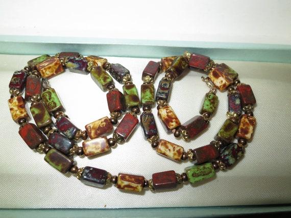 Beautiful vintage Scottish Agate longline necklace