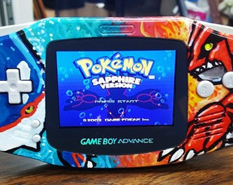 Unique Gameboy Advance Pokemon Ruby and Sapphire Theme, Backlight screen mod