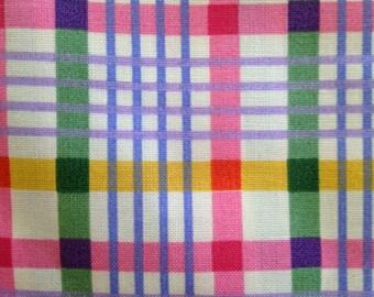 Plaid Cotton Fabric Spring Plaid Joan Messmore Cranton Print Works 3.5 Yards