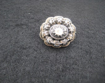 Antique silver brooch with Rose Diamond, ca. 1900