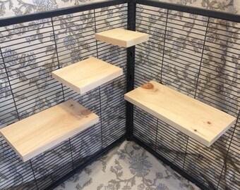 Kiln Dried Pine Chinchilla Ledges + Mounting Hardware