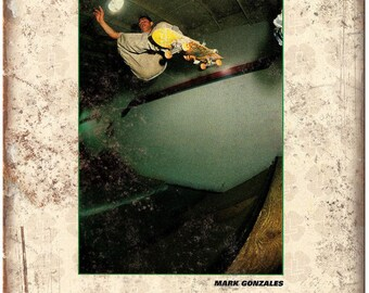 """Mark Gonzales Get Lucky Skateboard Bearing Ad 10""""X7"""" Reproduction Metal Sign S37"""