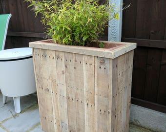 Handmade Reclaimed Pallet Wood Planter